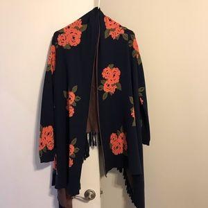 BB Dakota floral cardigan sweater
